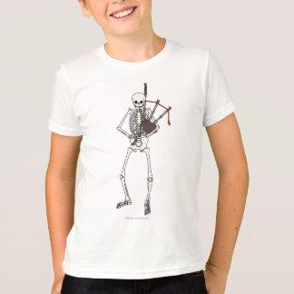 De Speler van de Doedelzak van het skelet T Shirt