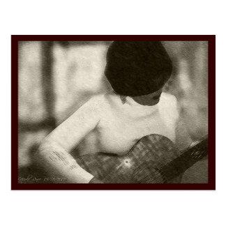 De Speler van de gitaar Briefkaart