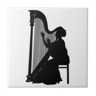 De Speler van de harp Tegeltje Vierkant Small