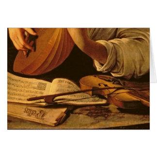 De speler van de Luit, c.1595 Kaart