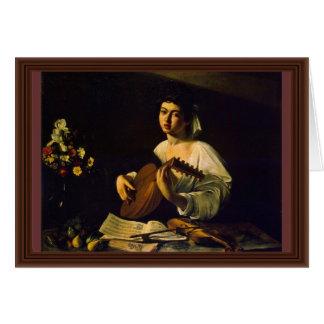 De speler van de Luit door Michelangelo Merisi DA Kaart