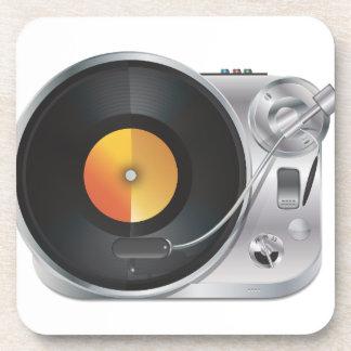 De Speler van de Muziek van DJ Drankjes Onderzetter