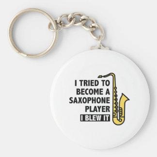 De Speler van de saxofoon Sleutelhanger