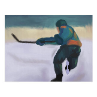 De Speler van het hockey, Briefkaart