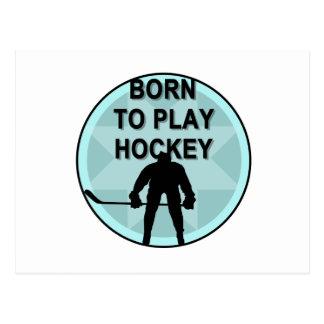 De Speler van het hockey Geboren om T-shirts en Briefkaart