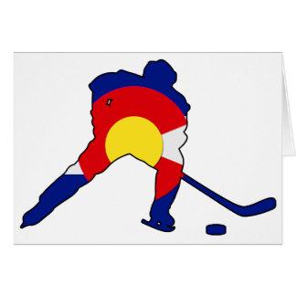 De Speler van het hockey met de Trots van Colorado Kaart