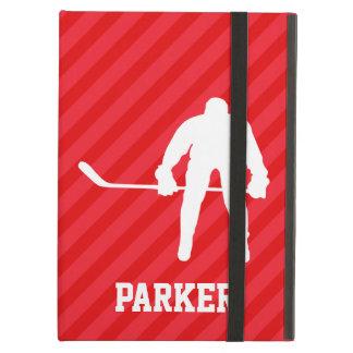De Speler van het hockey; Scharlaken Rode Strepen iPad Air Hoesje
