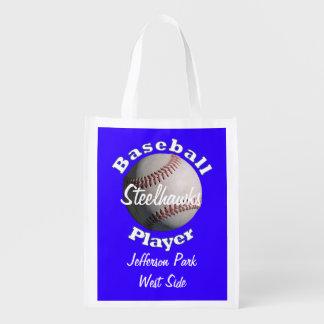 De Speler van het honkbal Boodschappentassen