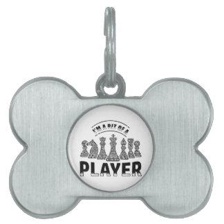 De Speler van het schaak Huisdieren Naamplaatjes