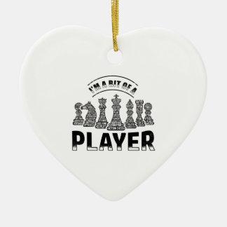 De Speler van het schaak Keramisch Hart Ornament