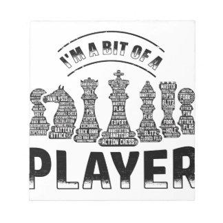 De Speler van het schaak Notitieblokken