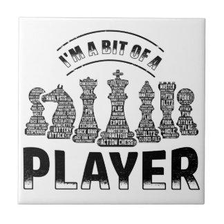 De Speler van het schaak Tegeltje Vierkant Small