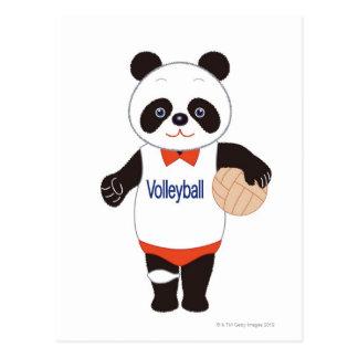 De Speler van het Volleyball van de panda Briefkaart