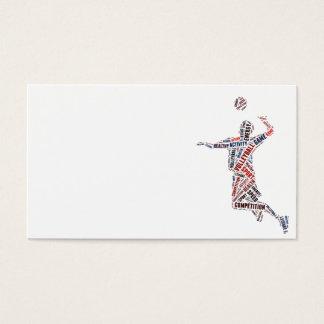 De speler van het volleyball visitekaartjes
