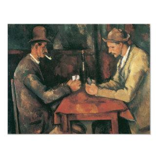 De spelers van de Kaart door Cezanne, Vintage Aankondiging