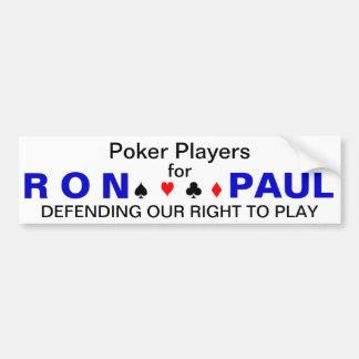 De Spelers van de pook voor Ron Paul Bumpersticker
