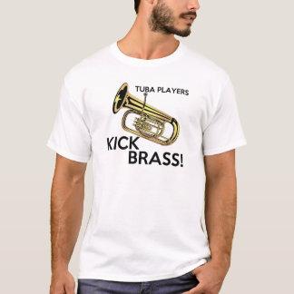 De Spelers van de tuba schoppen Messing T Shirt