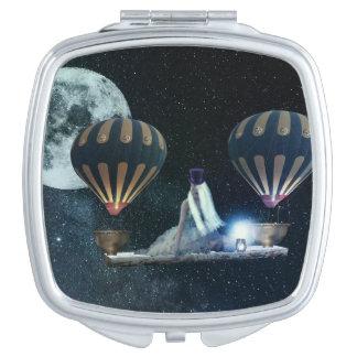 De Spiegel van de Ballons van de Hete Lucht van de Makeup Spiegeltje