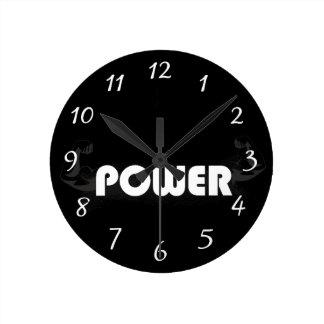 De spieren van de macht ronde klok