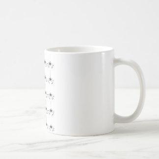 De spin van de cartoon koffiemok