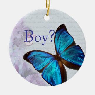De Spinner van de jongen/van het Meisje Rond Keramisch Ornament