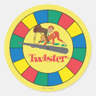 De Spinner van Twister Ronde Stickers