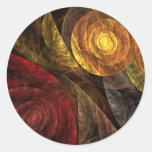 De spiraal van de Abstracte Kunst van het Leven om Ronde Stickers