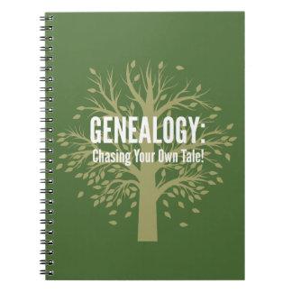 De Spiraal van de genealogie - verbindend (Groen) Ringband Notitieboek