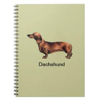 De Spiraal van de Hond van de tekkel - verbindend Ringband Notitieboek