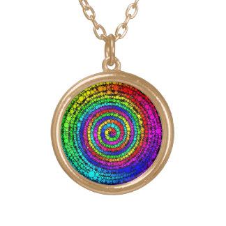 De Spiraal van de regenboog Goud Vergulden Ketting