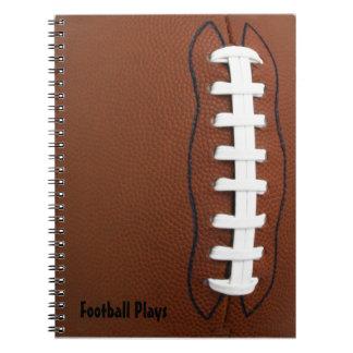 De Spiraal van het football - verbindend Ringband Notitieboek