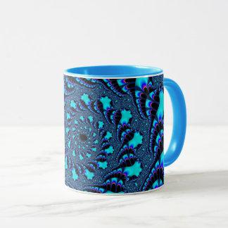 De Spiraalvormige Mok van de blauwgroen Draaikolk