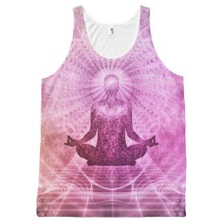 De spirituele Meditatie Kleurrijke Zen van de Yoga All-Over-Print Tank Top