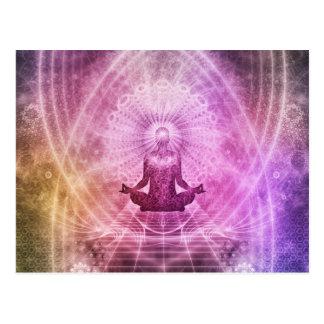 De spirituele Meditatie Kleurrijke Zen van de Yoga Briefkaart