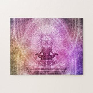 De spirituele Meditatie Kleurrijke Zen van de Yoga Puzzel