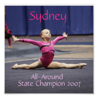 De Spleten van de gymnastiek Poster
