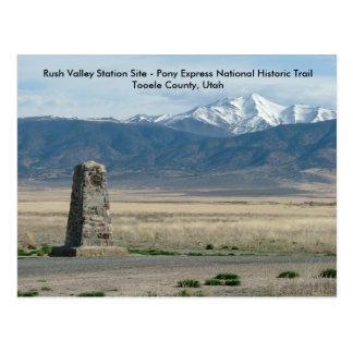 De spoed Post van de Vallei Briefkaart