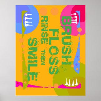 De Spoeling van de Zijde van de borstel, GLIMLACHT Poster