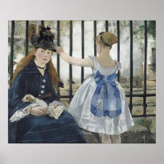 De spoorweg door Edouard Manet Poster