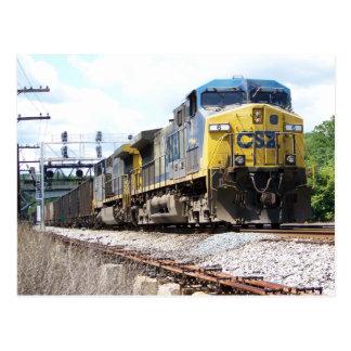 De Spoorweg van CSX AC4400CW #6 met een Trein van Briefkaart