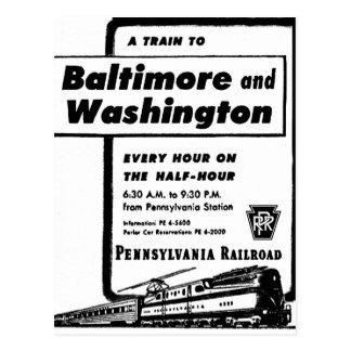 De Spoorweg van Pennsylvania leidt om het uur 1948 Briefkaart