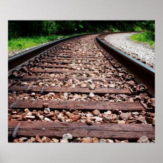 De Sporen van de spoorweg Poster