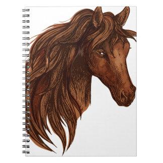De Sport van het Paard van paarden Notitieboek
