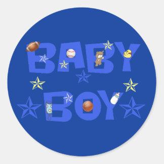 De sporten van de Jongen van het baby Ronde Stickers