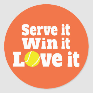 De sporten van het tennis dienen het winnen het ronde sticker