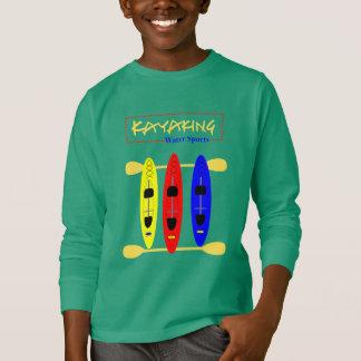 De Sporten van het Water van Kayaking - themed T Shirt