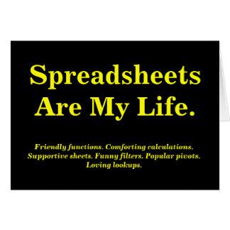 De spreadsheten zijn Mijn leven - de Kaart van de