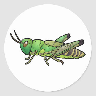 De Sprinkhaan van de weide Ronde Sticker