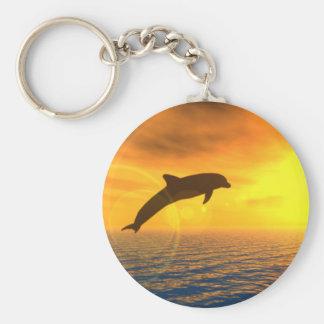 De Sprong Keychain van de dolfijn Basic Ronde Button Sleutelhanger
