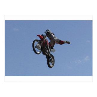 De Sprong van de motocross Briefkaart